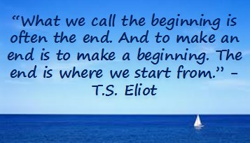The beginning TS eliot